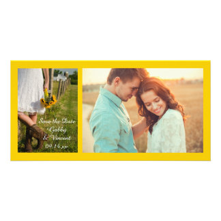 Bride, Cowboy Boots and Sunflowers Save the Date Card