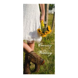 Bride, Cowboy Boots and Sunflowers Wedding Program