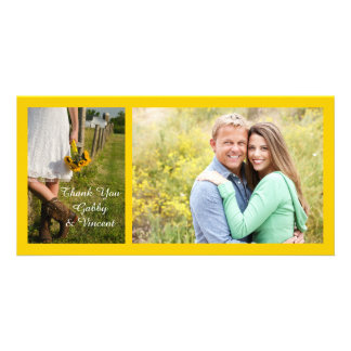 Bride, Cowboy Boots, Sunflowers Wedding Thank You Card