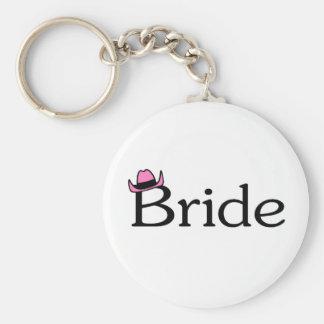 Bride (Cowboy Hat) Basic Round Button Keychain