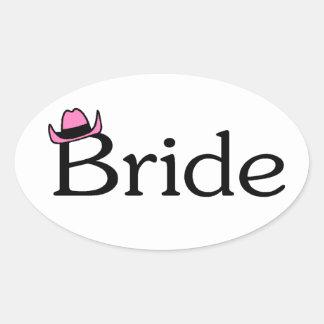 Bride (Cowboy Hat) Oval Sticker