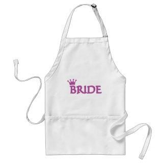 bride crown icon adult apron