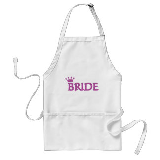 bride crown icon aprons