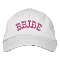 BRIDE Custom Name WHITE A07C7H Embroidered Baseball Hat