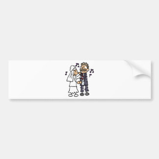 Bride Dances With Father Daughter Wedding Dance Bumper Stickers