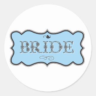 Bride Design 01 273b Round Sticker