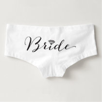 Bride Diamond Bridal Party Chic Wedding Underwear