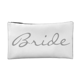 Bride Diamond Engagement Ring Wedding Day Bridal Cosmetic Bag