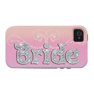 BRIDE - Diamond Jewelry on Pink iPhone 4/4S Case