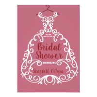 Bride Dress Bridal Shower Invitation
