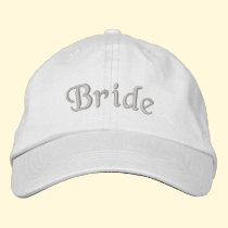 Bride Embroidered Cute Wedding Hat