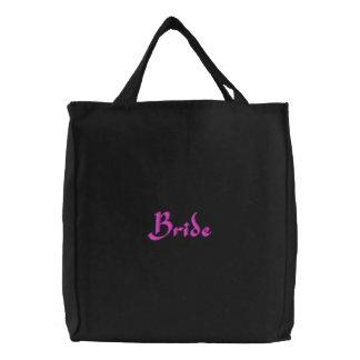 Bride Embroidery Tote Bag