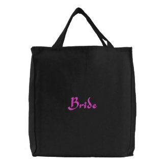 Bride Embroidery Tote Bag