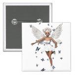 Bride Fairy White Minidress Blue Butterflies Buttons