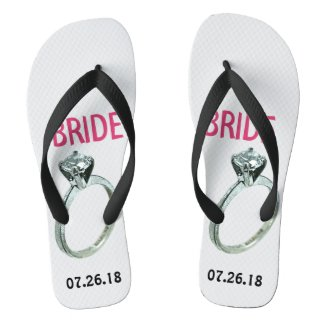 Personalized Bridal Engagement Flip Flops