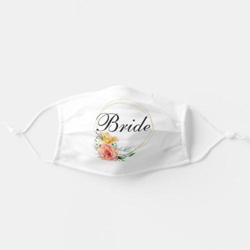 Bride Floral  Customize Wedding Adult Cloth Face Mask
