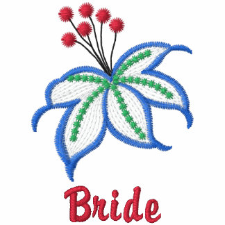Bride floral embroidered women's polo shirt