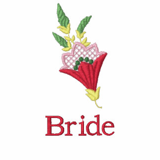 Bride floral embroidered women's t-shirt