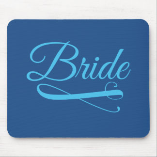 Bride Flourish Blue Mouse Pad
