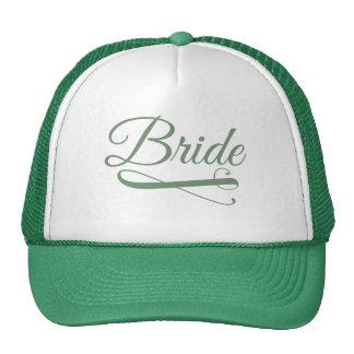 Bride Flourish Green Trucker Hat
