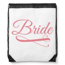 Bride Flourish Pink Drawstring Backpack