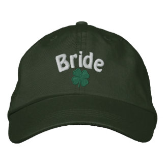 Bride - Four Leaf Clover - Customized Embroidered Baseball Hat