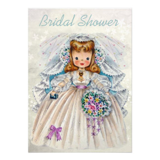 Bride from Front Back Double Sided Bridal Shower Custom Invite