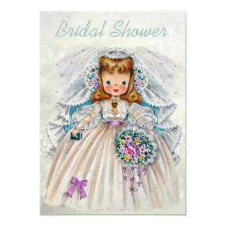 Bride from Front & Back Double Sided Bridal Shower Custom Invite