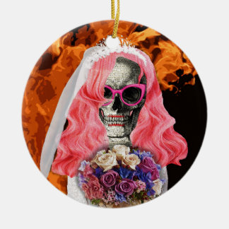 Bride from hell ceramic ornament