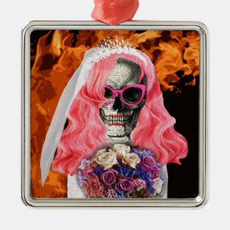Bride from hell metal ornament