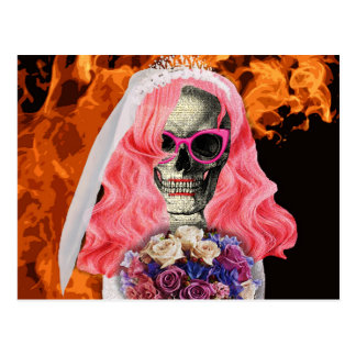 Bride from hell postcard
