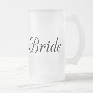 Bride Frosted Glass Beer Mug