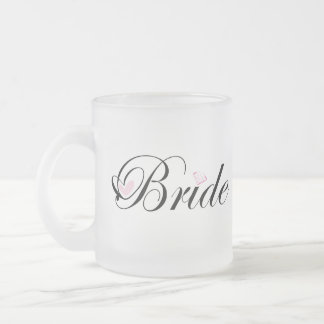 Bride Frosted Glass Coffee Mug