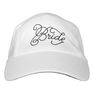 Bride Fun Script Bridal Black on White Hat