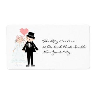 Bride future mrs and groom future mr label