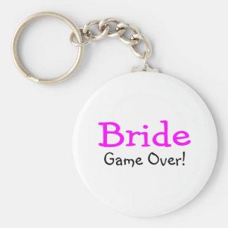 Bride Game Over Basic Round Button Keychain