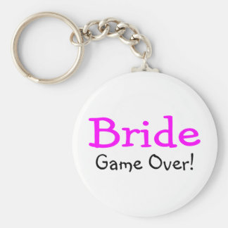 Bride Game Over Keychain
