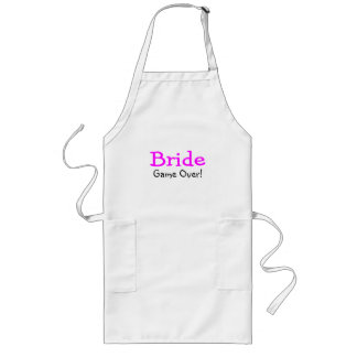 Bride Game Over Long Apron