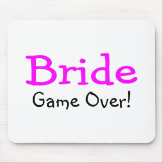 Bride Game Over Mousepads