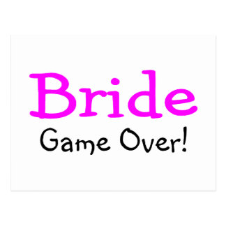 Bride Game Over Post Card