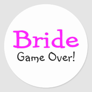 Bride Game Over Stickers