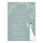 "Bride, Gazebo & Blossom Trees Bridal Shower 5"" X 7"" Invitation Card"