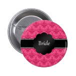Bride gifts pink damask pins