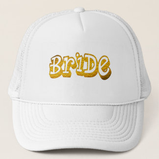 bride golden glitter bridal white bride hat
