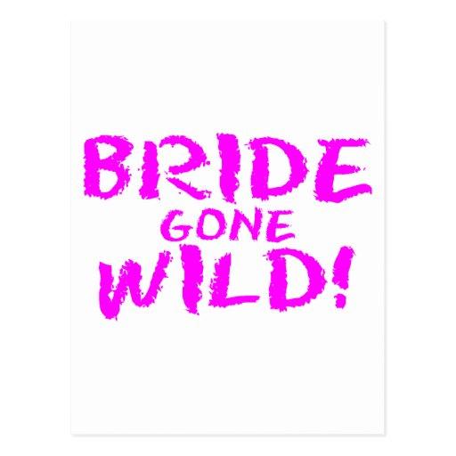 Bride Gone Wild (Pink) Postcard