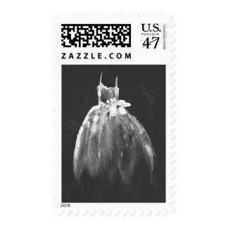 bride gown elegant chalkboard postage stamps