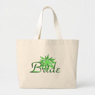 Bride Green Tote Bags