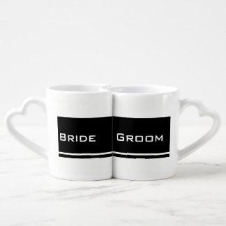 Bride & Groom (Black/White) Coffee Mug Set