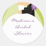 Bride & Groom Bridal Shower Sticker