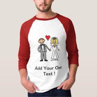Bride & Groom Cartoon - Add Your Own Message T-Shirt
